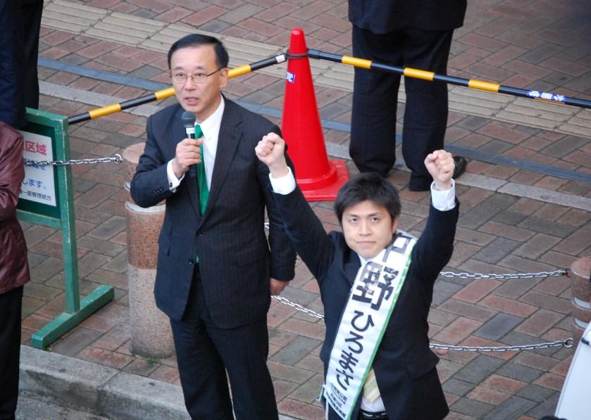 いよいよ公示!JR立花・阪急園田で街頭演説