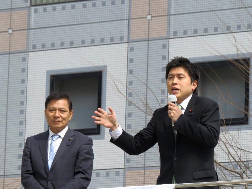 しの木和良県会議員(川西市・猪名川町)と街頭演説