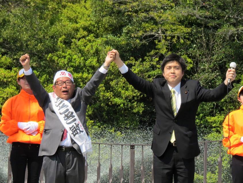 明石市議選「ささき敏」候補と街頭演説