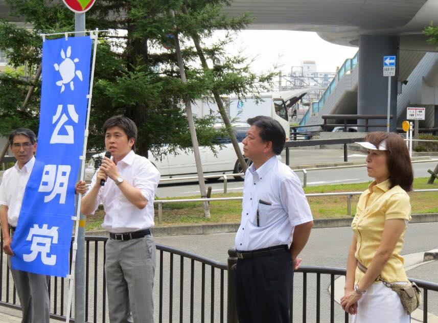 終戦記念日街頭演説を開催