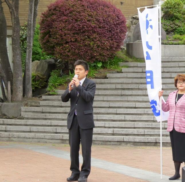 熊本地震への募金活動に参加