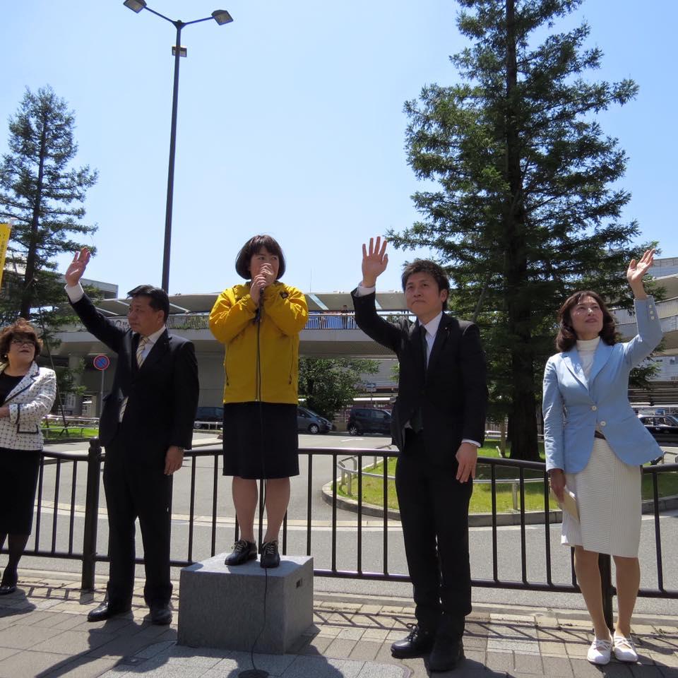 尼崎、伊丹で街頭演説