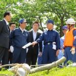 160516揖保川水系総合水防演習に参加②