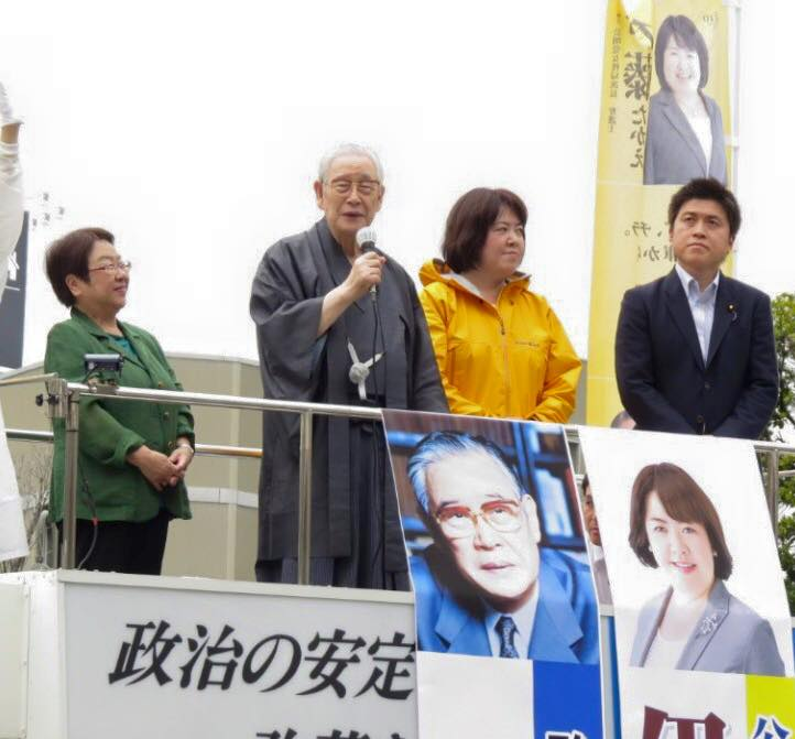 阪神間で街頭演説