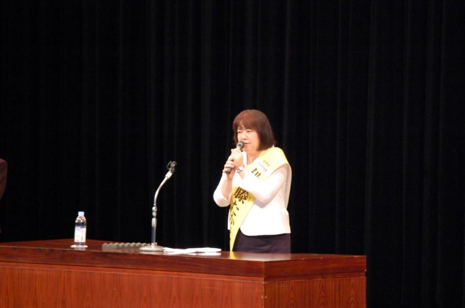 尼崎で伊藤たかえ候補の個人演説会