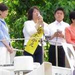 160627尼崎で伊藤たかえ候補の個人演説会③