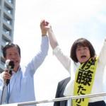 160702阪神尼崎駅で伊藤たかえ候補の街頭演説④