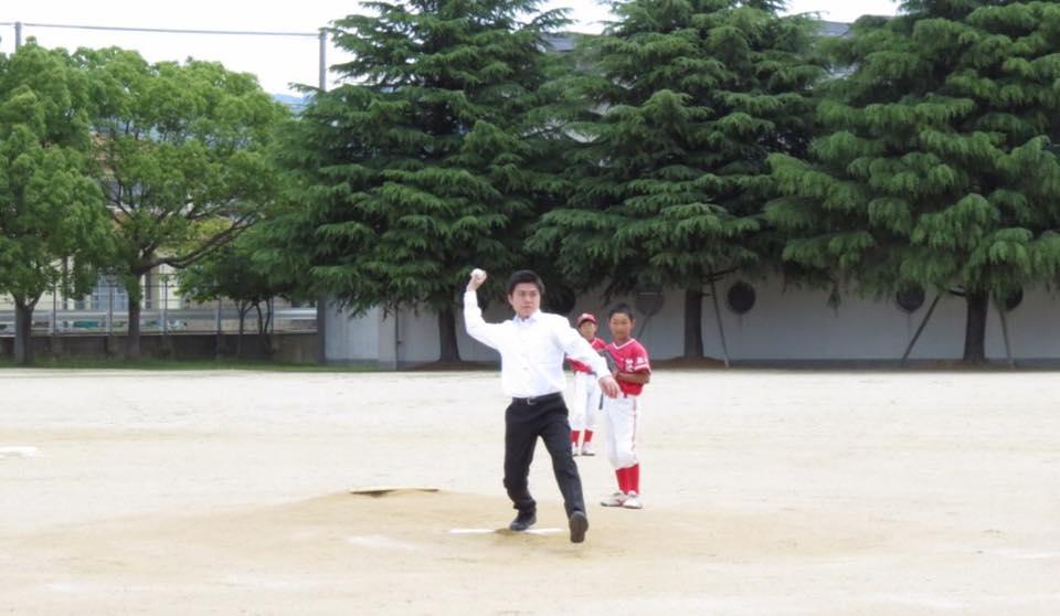 「阪神北摂広域リーグ大矢根キッズ杯」の開会式に参加