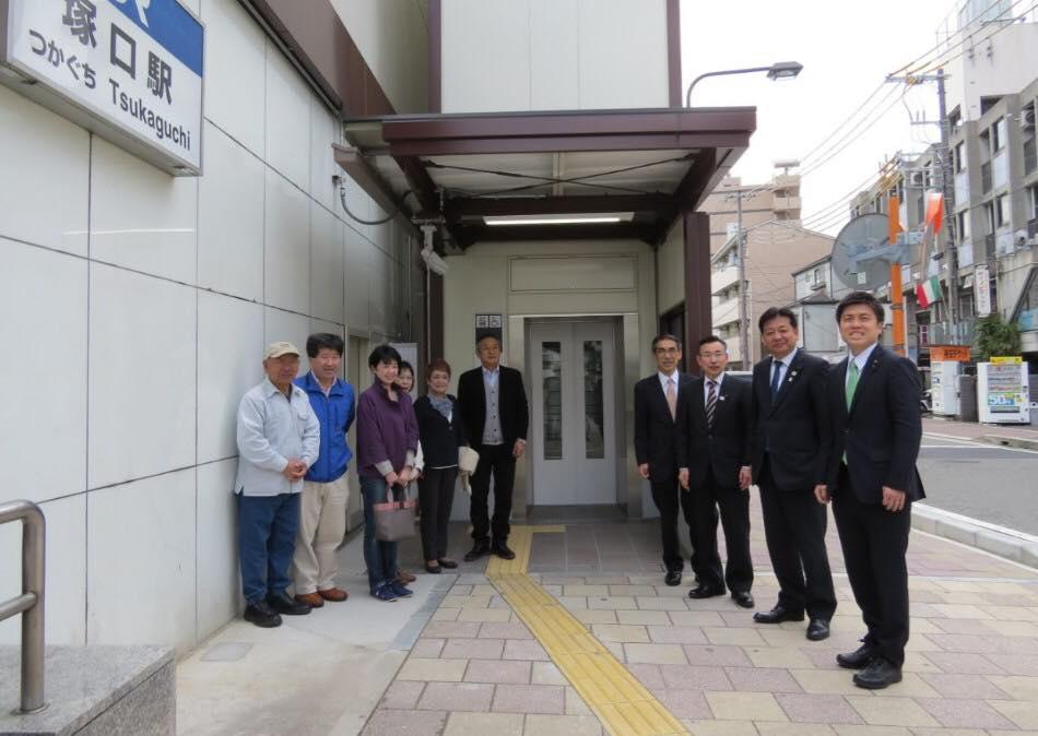 JR塚口駅西口にエレベーター設置