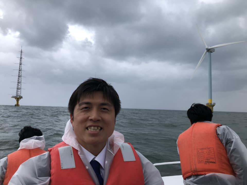銚子沖の洋上風力発電を視察