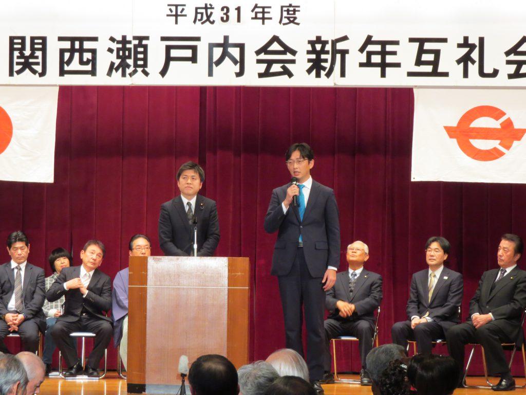 関西瀬戸内会、民団尼崎支部の新年会に参加