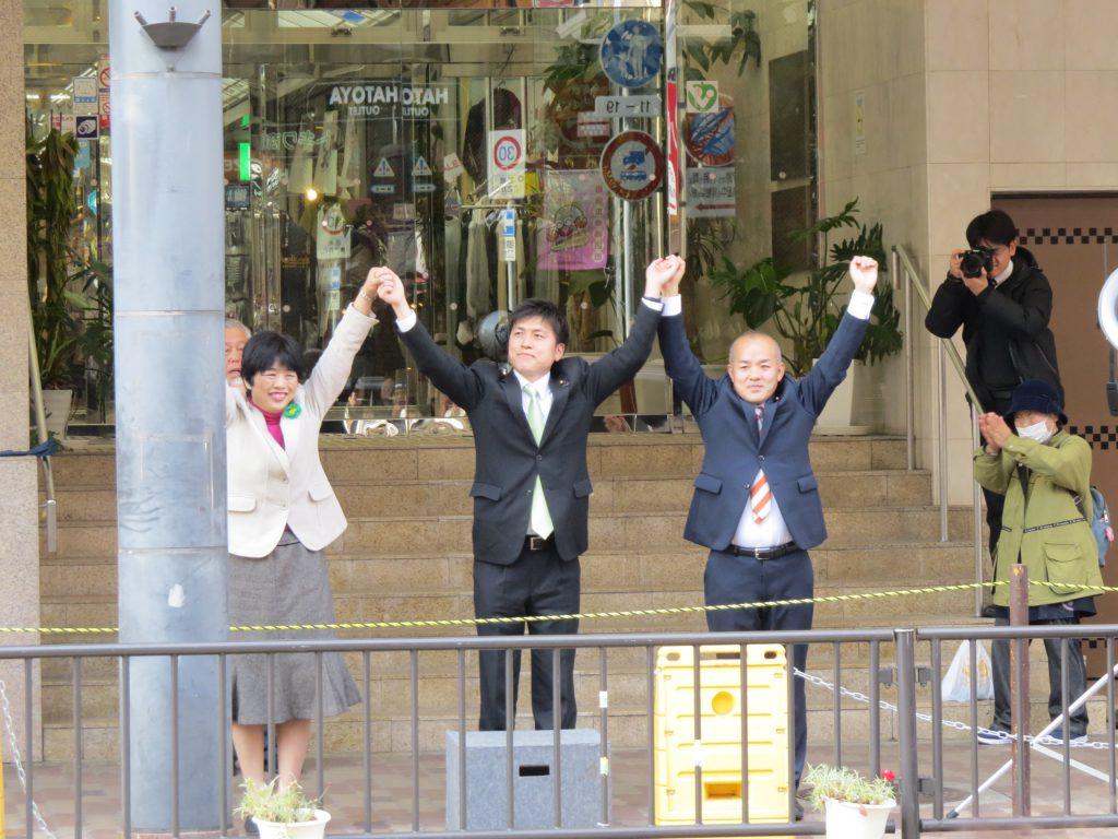 神戸市須磨区で街頭演説