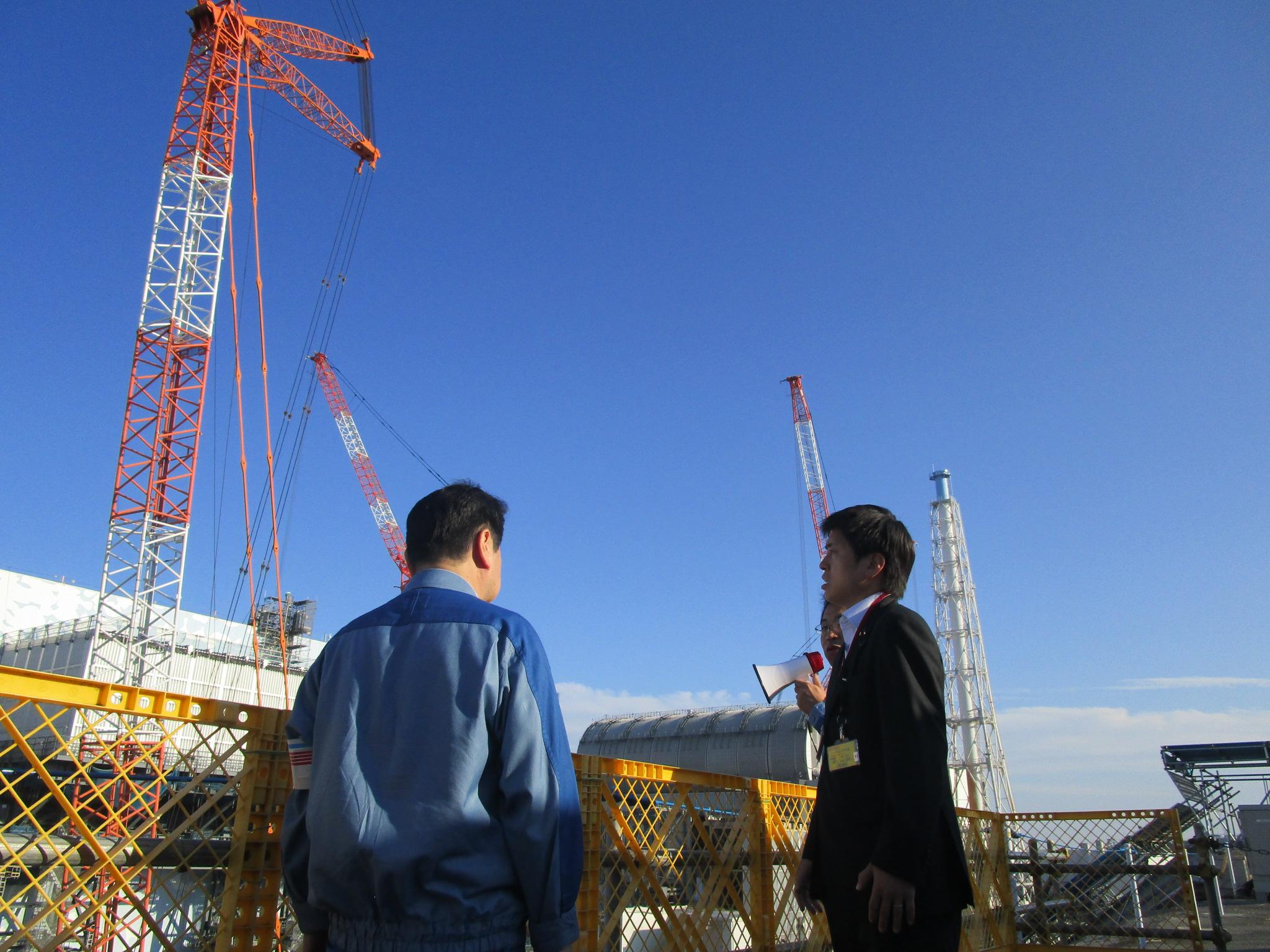 東京電力福島第一原発、大熊町を視察