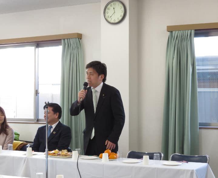 尼崎で新年の会合に参加