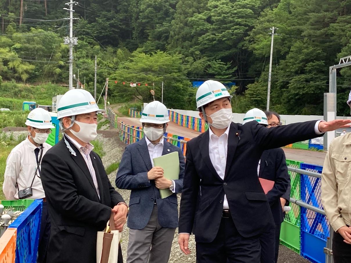 福島県飯舘村、川俣町、広野町を訪問