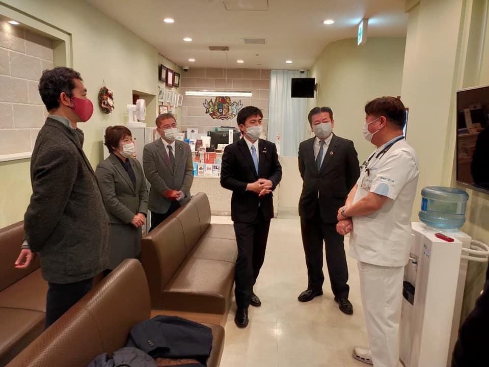 関空-奄美便の抗原検査の視察