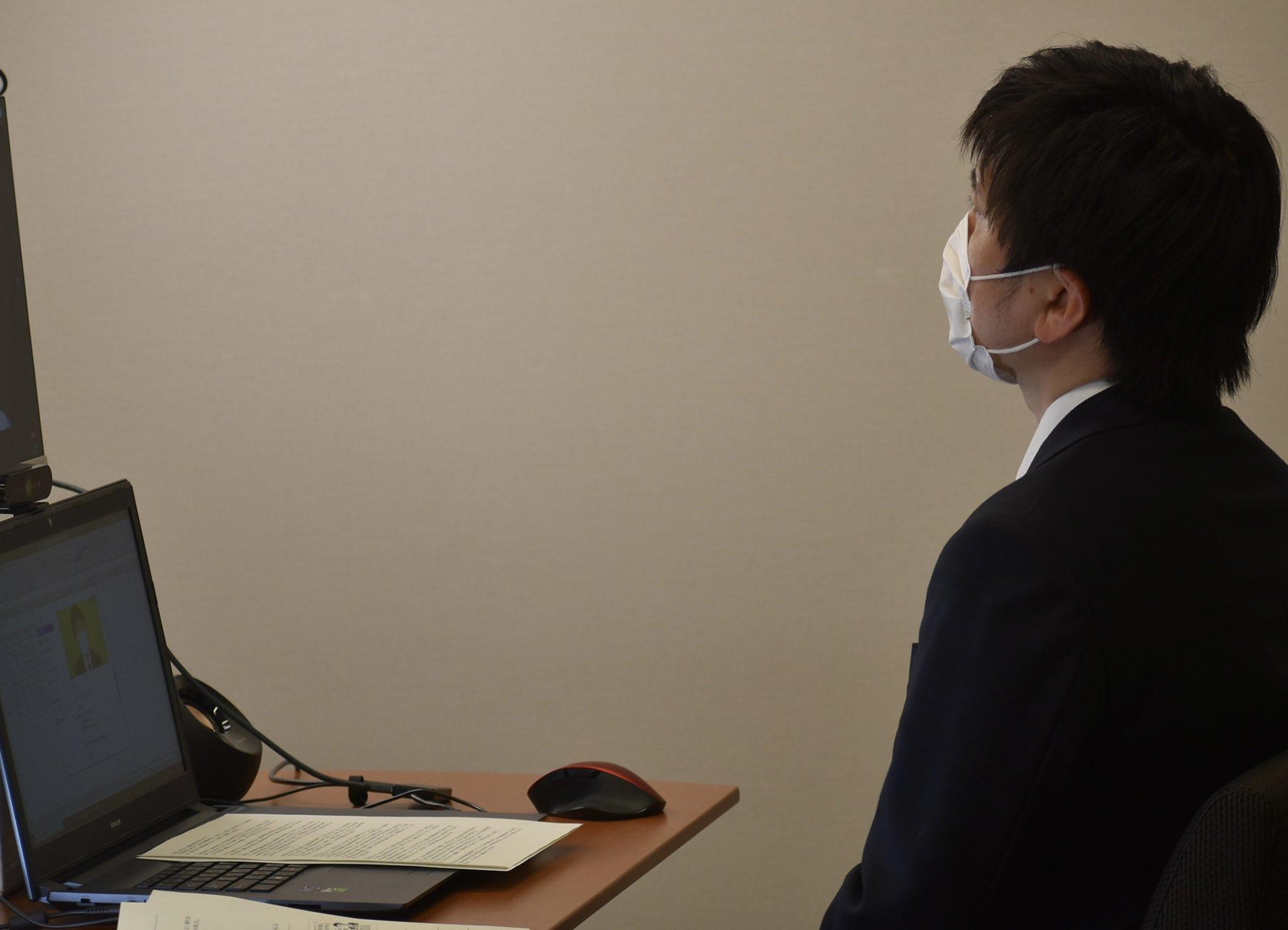 尼崎総支部のオンライン党員会に参加