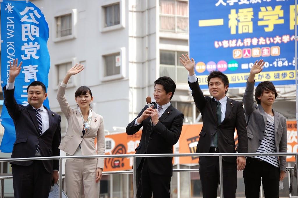 学生局街頭を開催