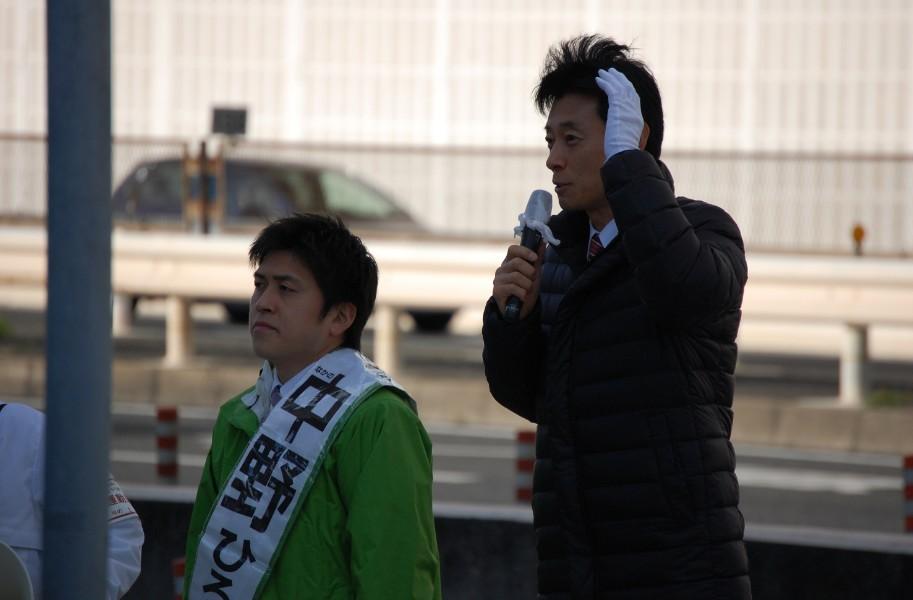 ライフ武庫川店前・つかしん前で街頭演説