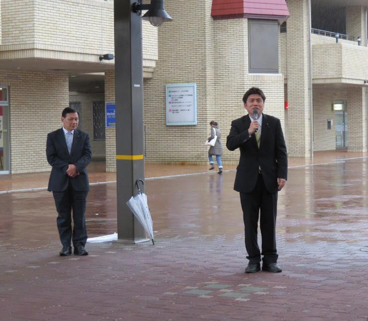 猪名川町、神戸市須磨区で街頭演説