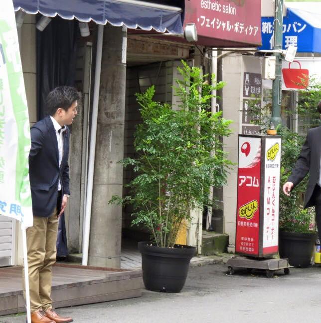 阪急塚口駅で駅頭挨拶