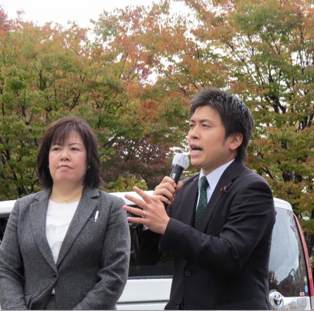 伊藤たかえさんと街頭演説