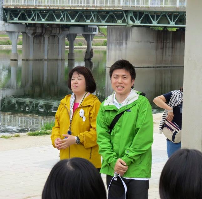 武庫川で伊藤たかえさんとウォーキング