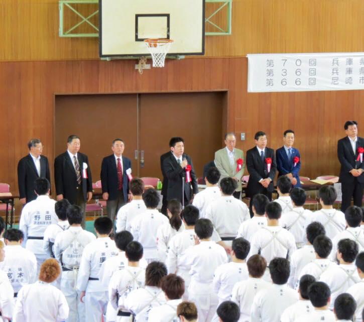 日本拳法兵庫県選手権大会に参加