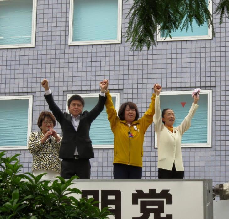 伊藤たかえさんと尼崎、芦屋、三田で街頭演説