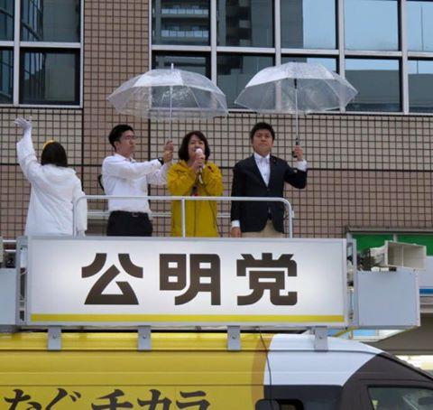 JR西宮駅で街頭演説