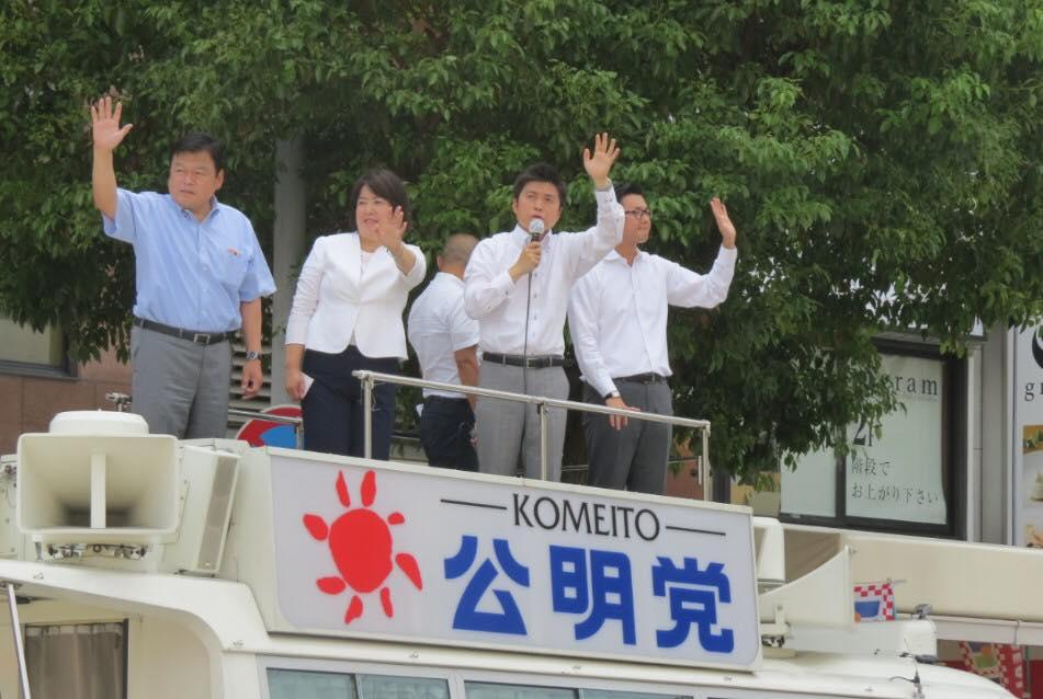 終戦記念日の街頭演説
