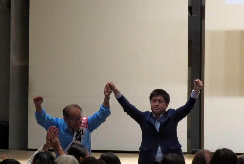 三田市議選の個人演説会に参加