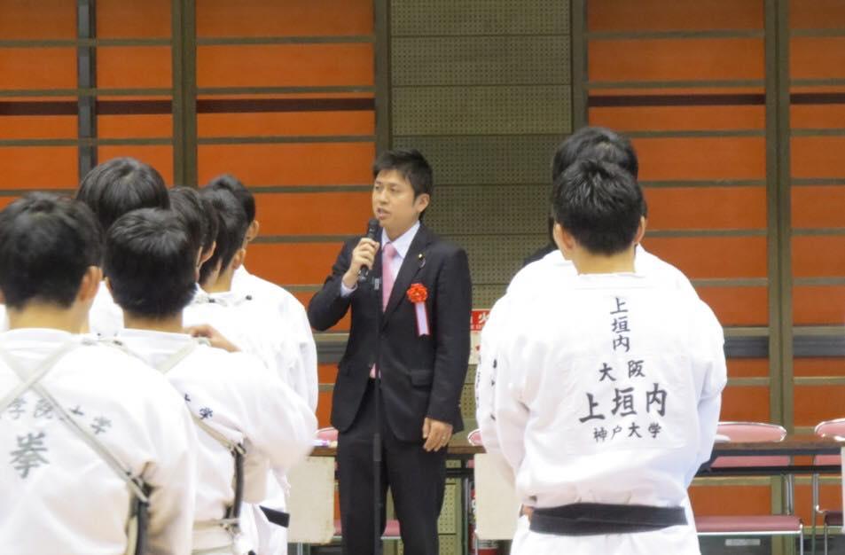 空手、日本拳法の大会に参加