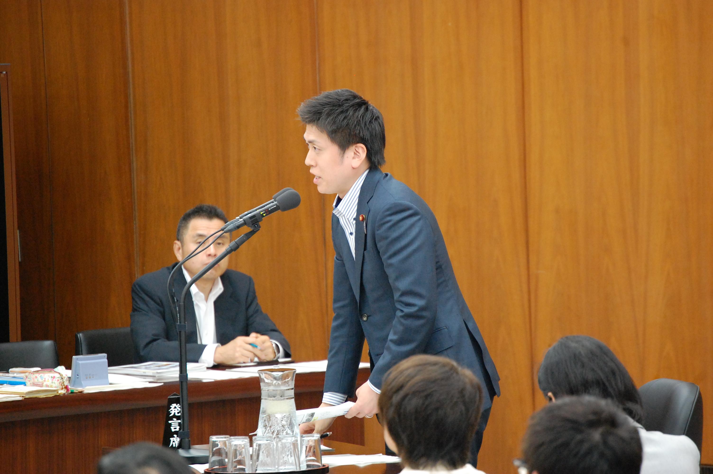 東日本大震災復興特別委員会で参考人質疑
