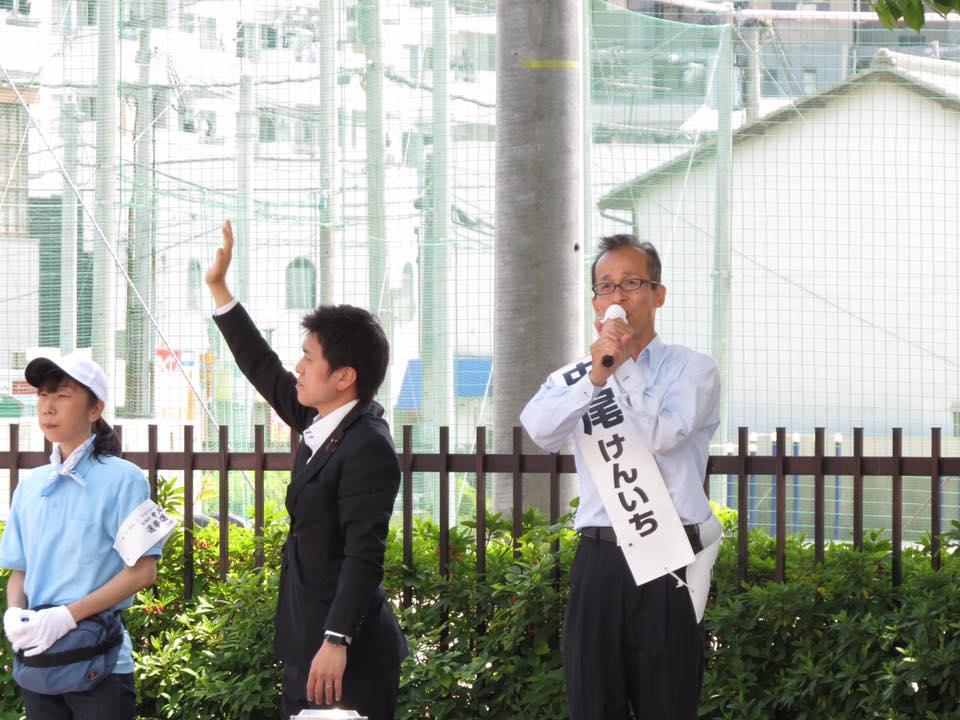 尼崎市議選「中尾けんいち」候補