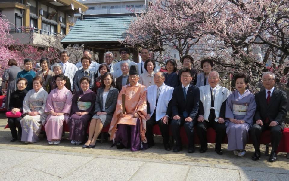 難波熊野神社の「梅まつり」に参加