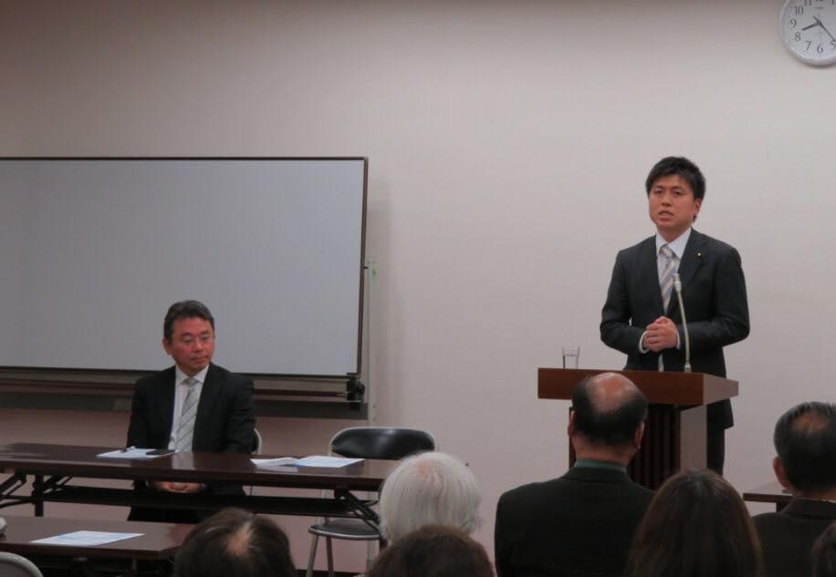 川西市の大矢根グループの党員会に参加