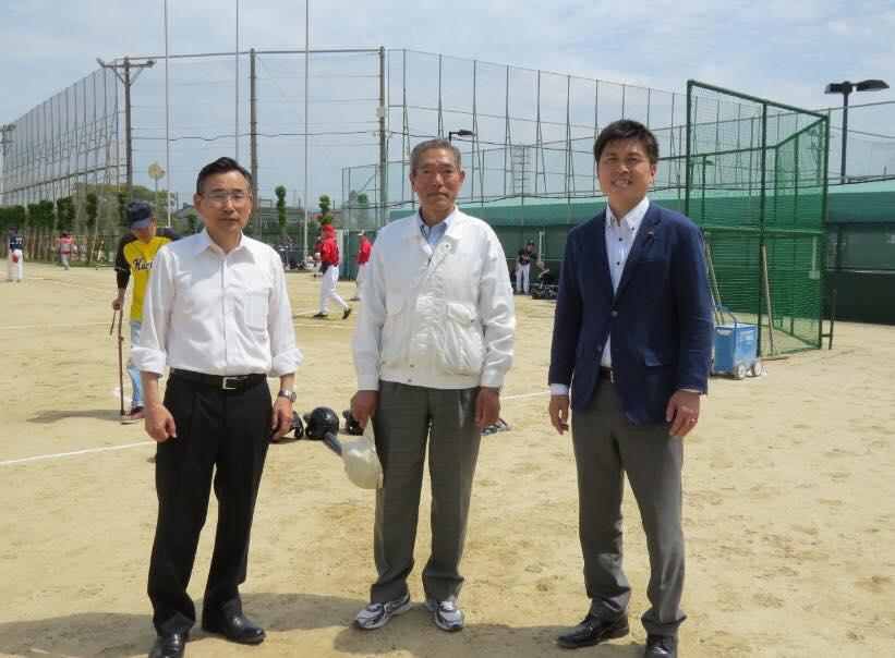 塚口本町連協のソフトボール大会でご挨拶
