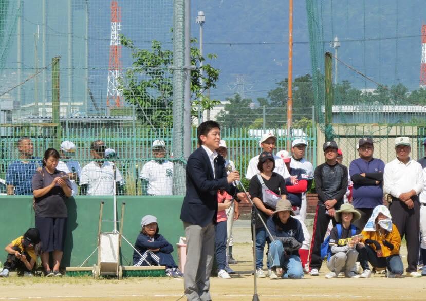 地域の野球大会などに参加