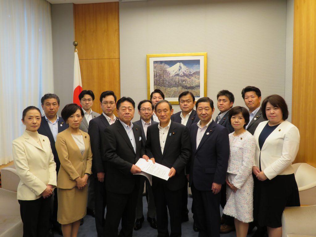 大阪府北部を震源とする地震被害に対し、菅官房長官に申し入れ