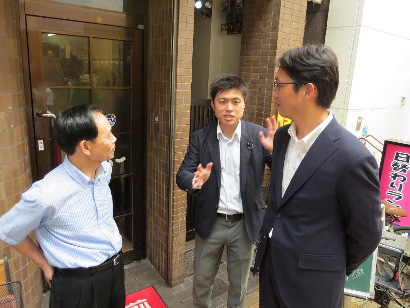 高橋みつおさんと尼崎市内を訪問
