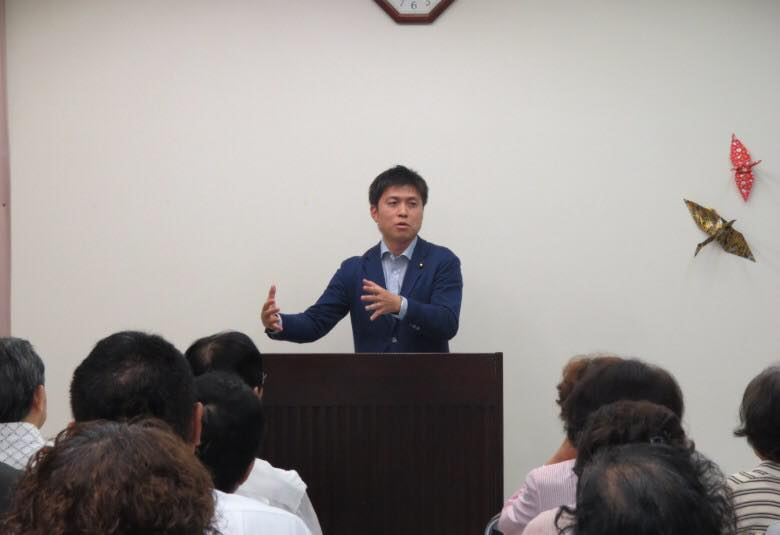 北立花地区、武庫地区の党員会に参加