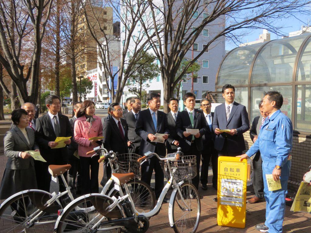 尼崎市でシェアサイクルの実証実験