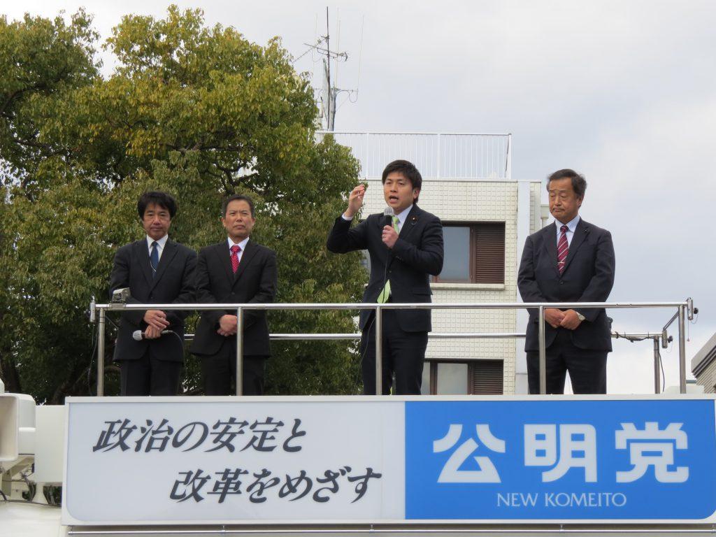 姫路で街頭演説