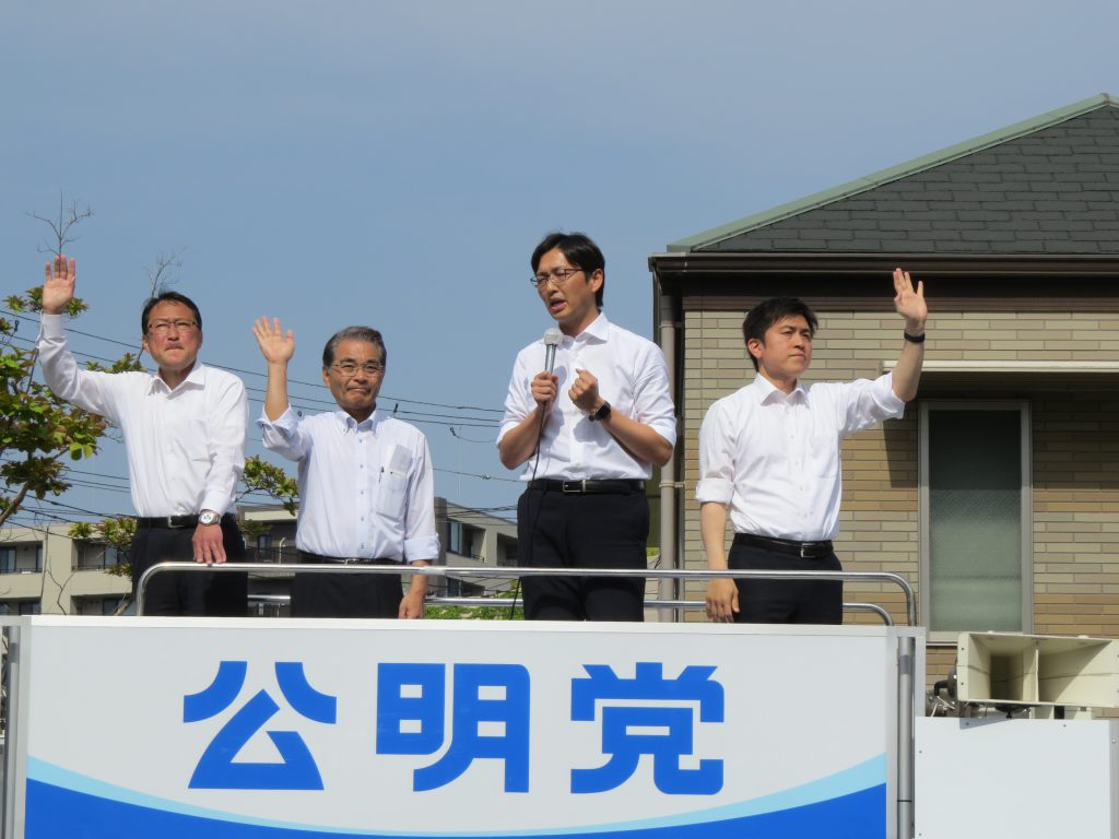 高橋みつおさんと街頭演説