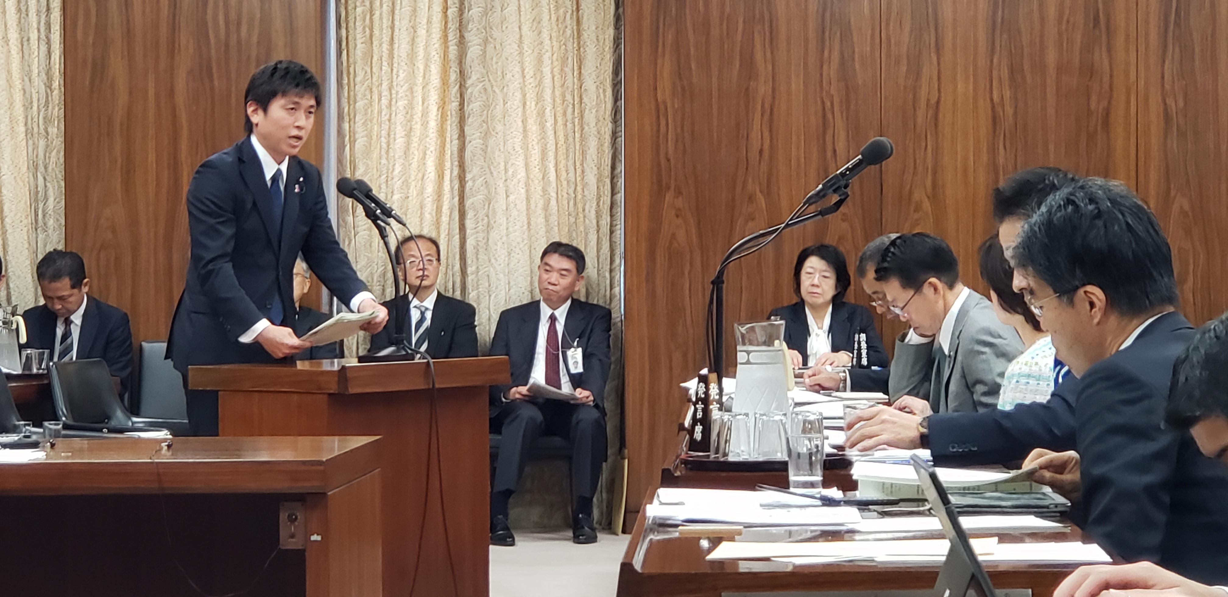 経済産業委員会で初答弁