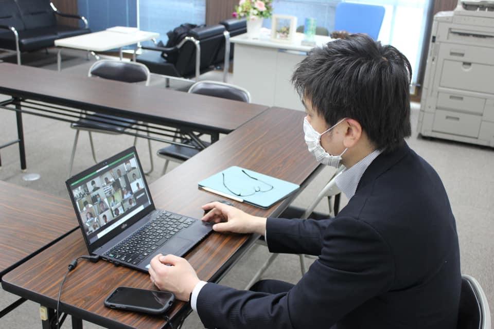 兵庫県本部でオンライン会議