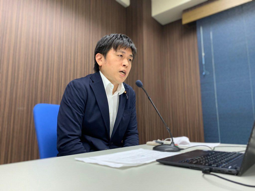 青年党員とオンライン懇談会