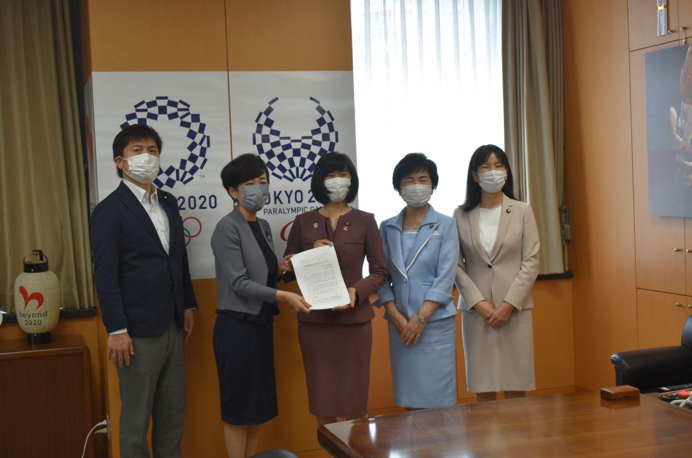丸川女性活躍担当大臣へ申し入れ