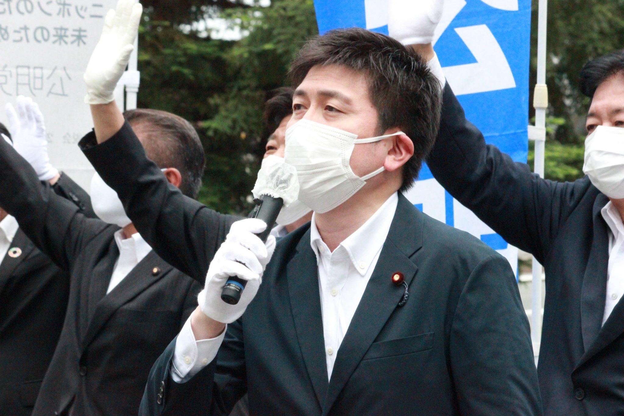 JR尼崎駅前で尼崎総支部の街頭演説